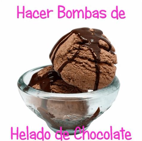 HAcer bomvas de baño de chocolate