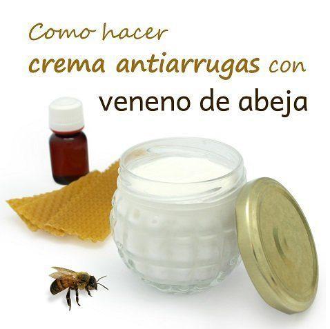Cómo hacer crema antiarrugas con veneno de abejas