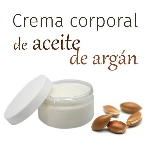 Hacer crema hidratante corporal de aceite de argán