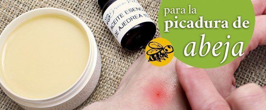 Crema casera para aliviar el dolor por picadura de abeja