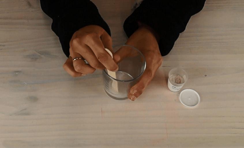 Jabón líquido casero nacarado para manos